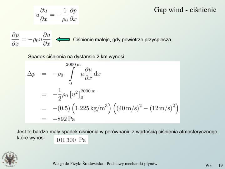 Gap wind - ciśnienie