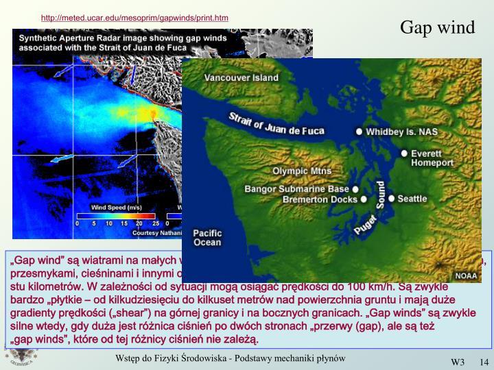 Gap wind
