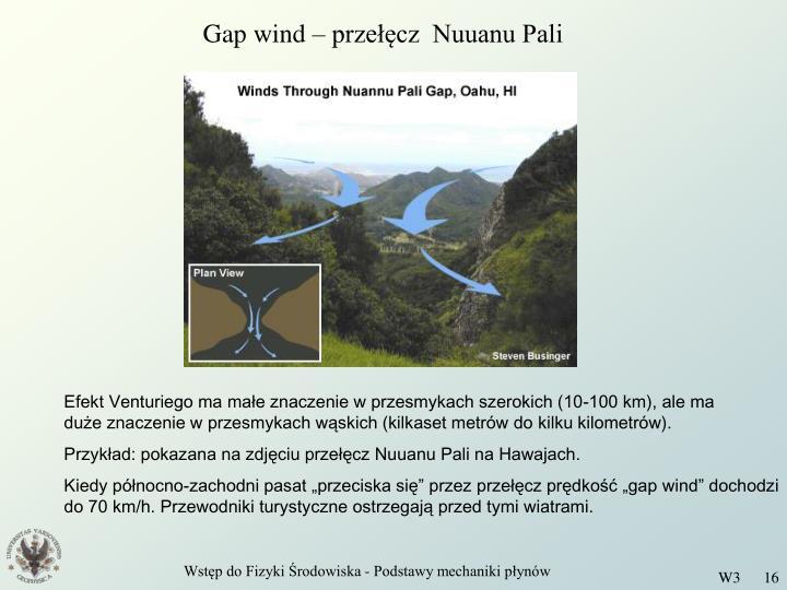 Gap wind – przełęcz  Nuuanu Pali