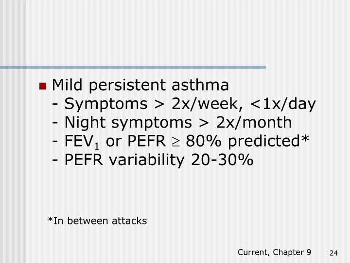 Mild persistent asthma