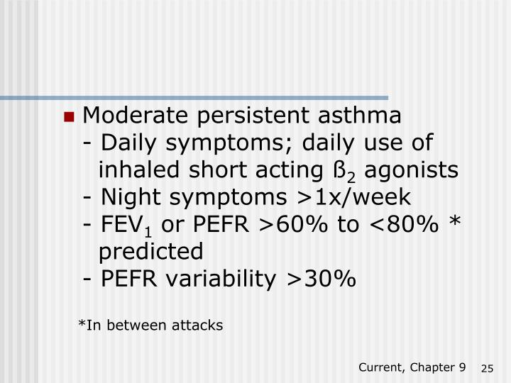 Moderate persistent asthma