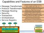 capabilities and features of an esb