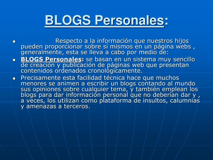 BLOGS Personales