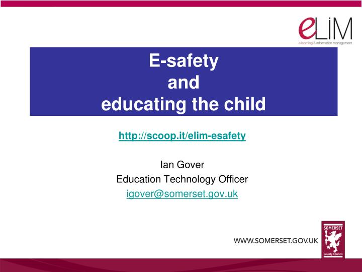 e safety and educating the child n.
