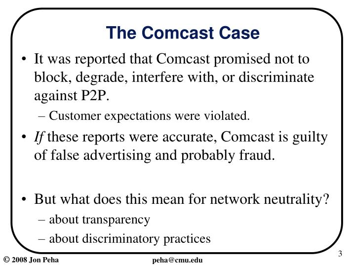 The comcast case