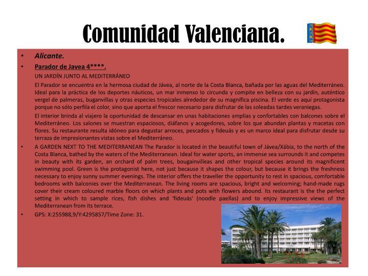 Comunidad Valenciana.