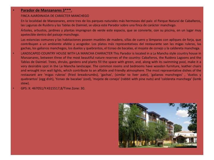 Parador de Manzanares 3***.