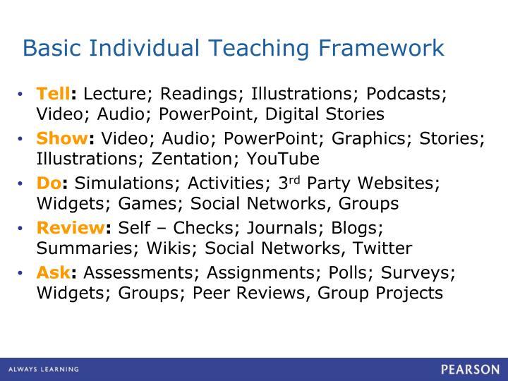 Basic Individual Teaching Framework