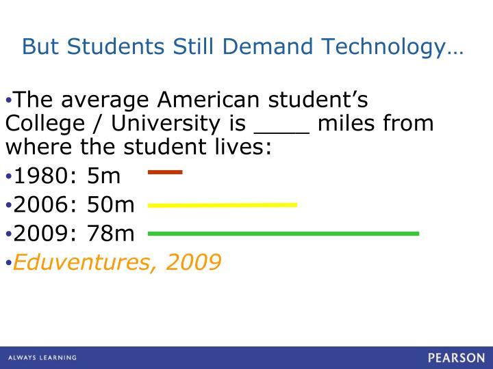 But Students Still Demand Technology…