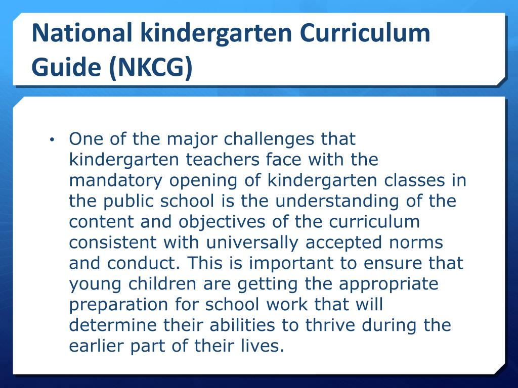 PPT - National Kindergarten Education Curriculum Guide for
