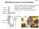 200 mhz detection of axial oscillation