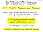 can we check the 3 s muon disagreement between measurement and calculation