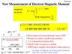 new measurement of electron magnetic moment