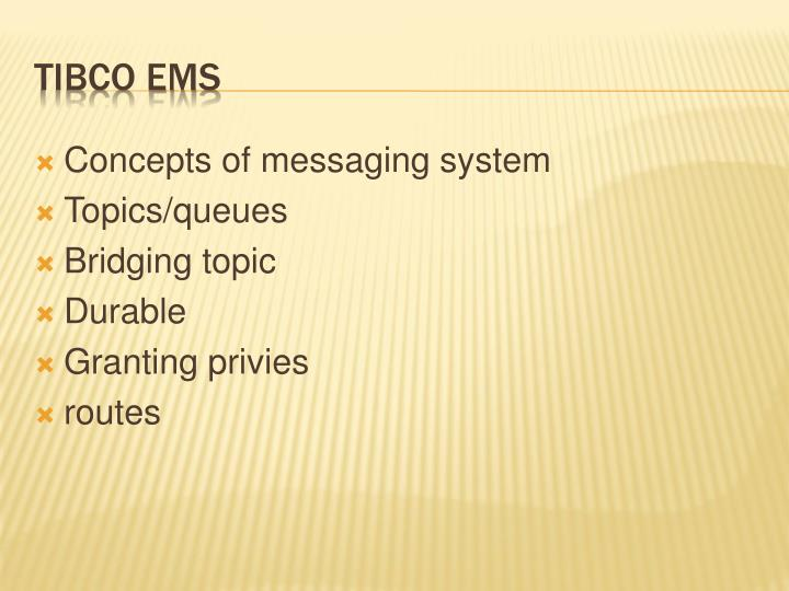 Concepts of messaging system