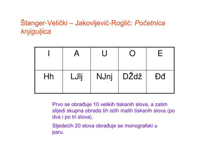 Štanger-Velički – Jakovljević-Roglić: