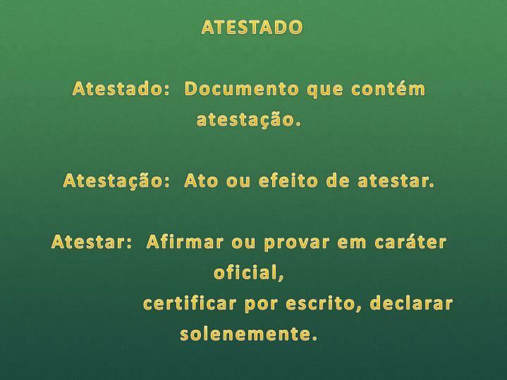 ATESTADO