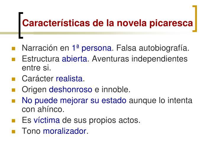 Características de la novela picaresca
