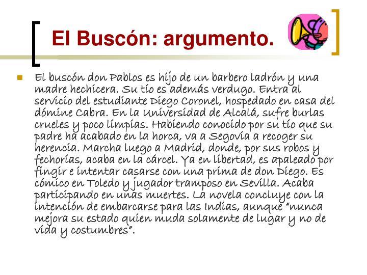 El Buscón: argumento.