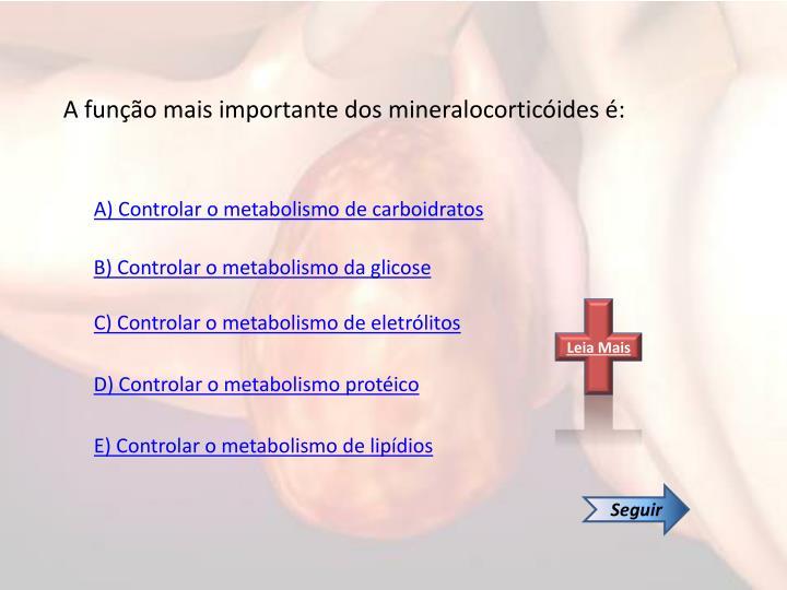 A função mais importante dos mineralocorticóides é: