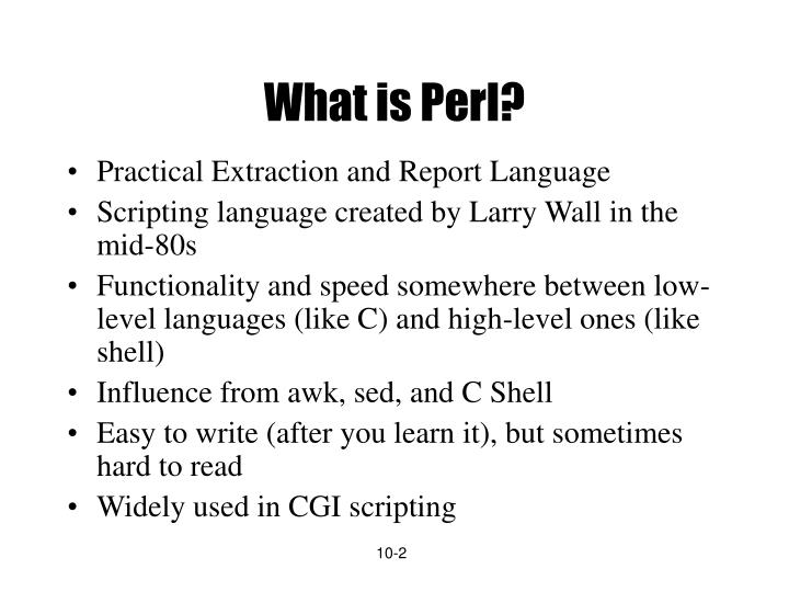 What is perl