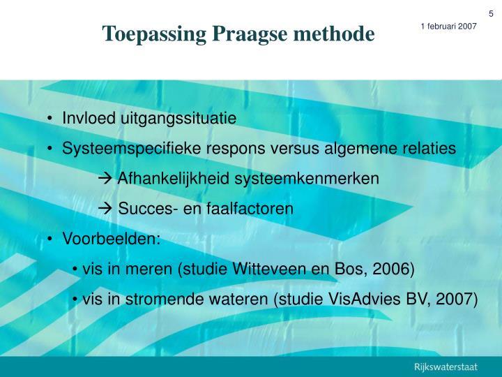 Toepassing Praagse methode