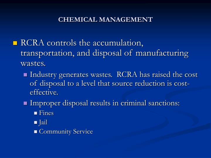 CHEMICAL MANAGEMENT