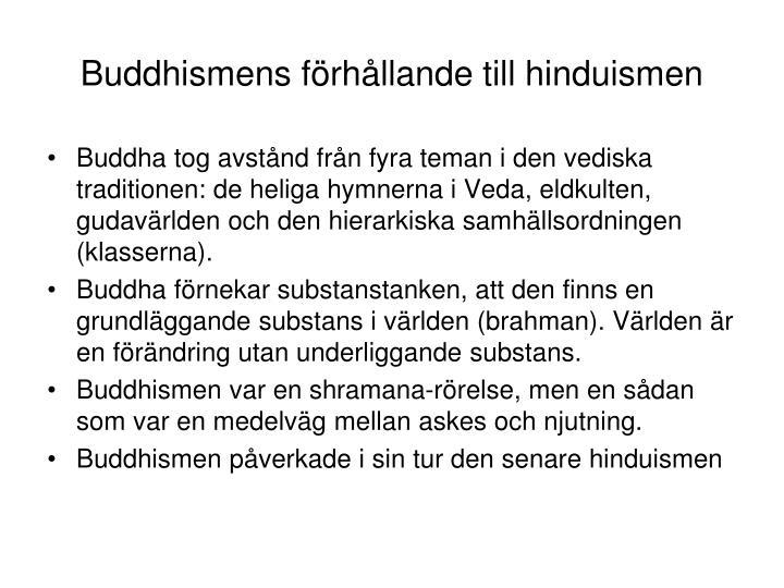 Buddhismens f rh llande till hinduismen