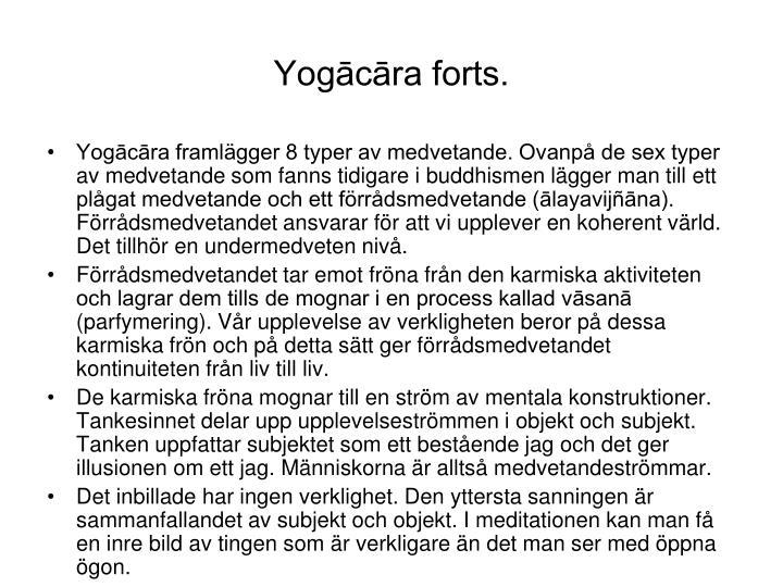 Yogācāra forts.