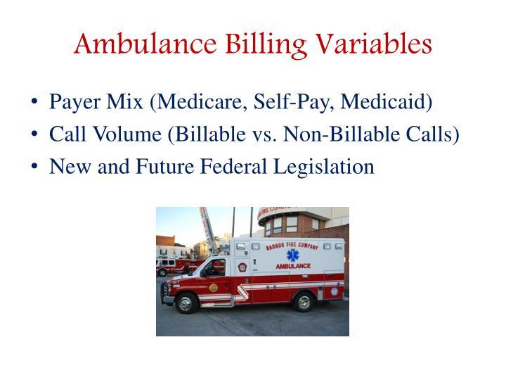 Ambulance Billing Variables