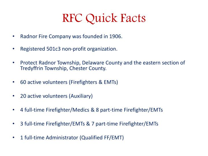 RFC Quick Facts