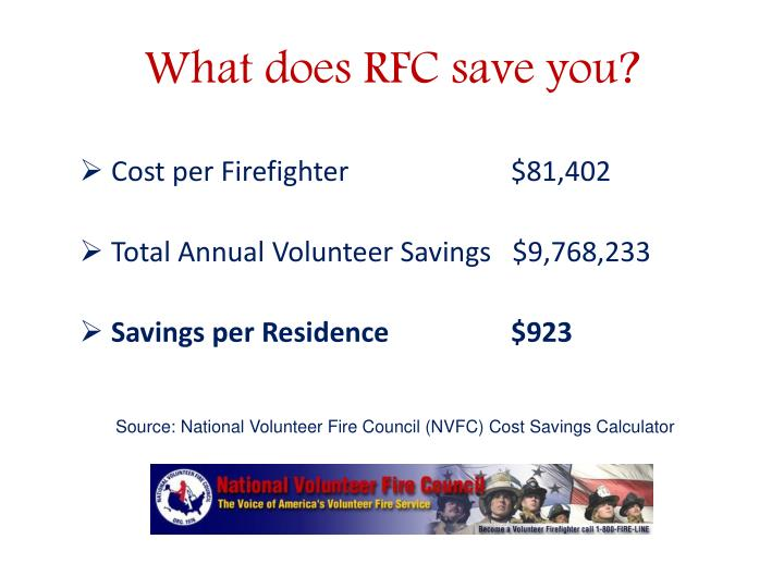 What does RFC save you?