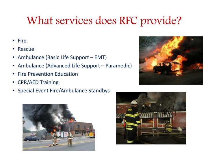 What services does rfc provide
