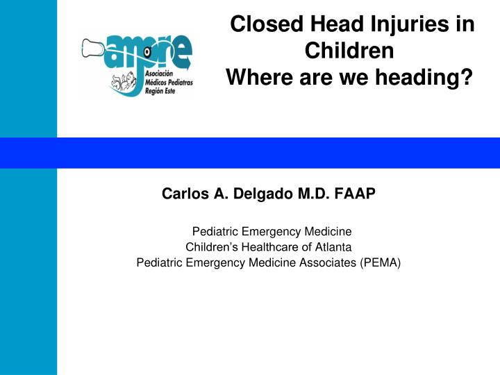 closed head injuries in children where are we heading n.