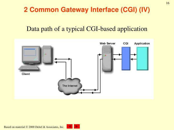 2 Common Gateway Interface (CGI) (IV)