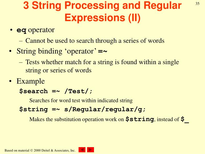 3 String Processing and Regular Expressions (II)