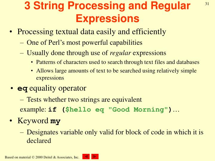 3 String Processing and Regular Expressions