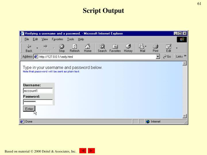 Script Output