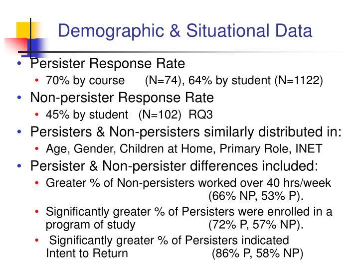Demographic & Situational Data