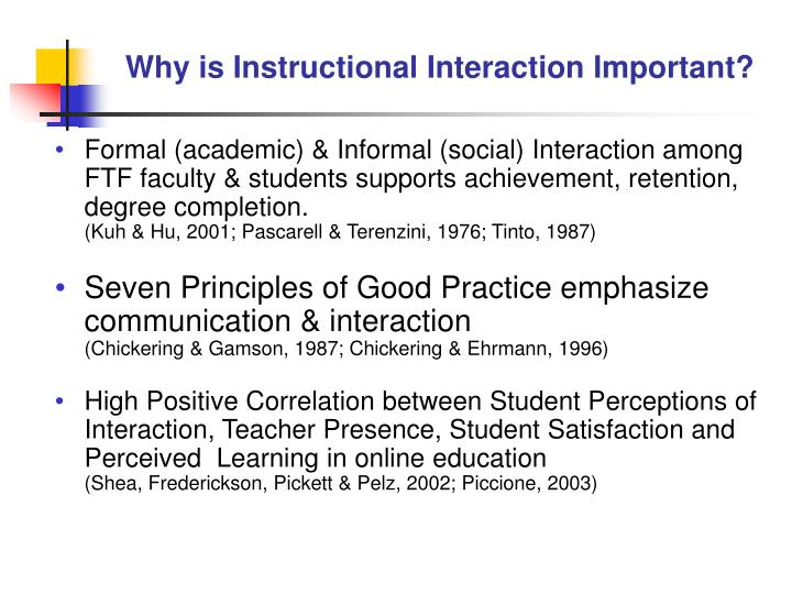 Why is Instructional Interaction Important?
