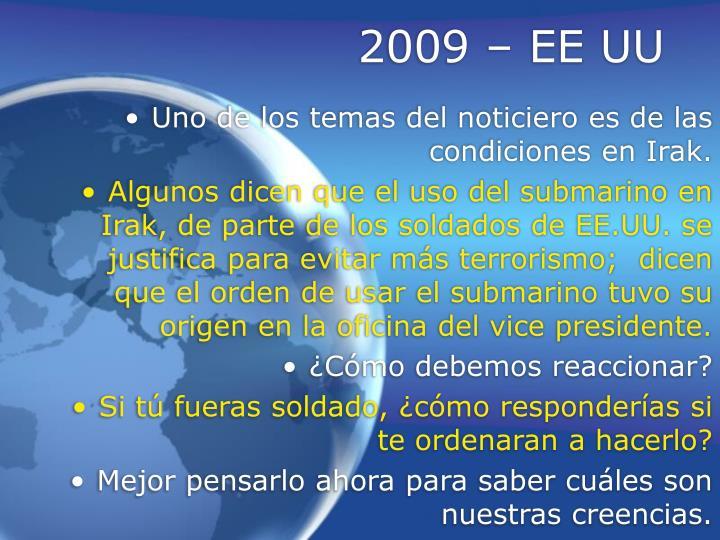 2009 – EE UU