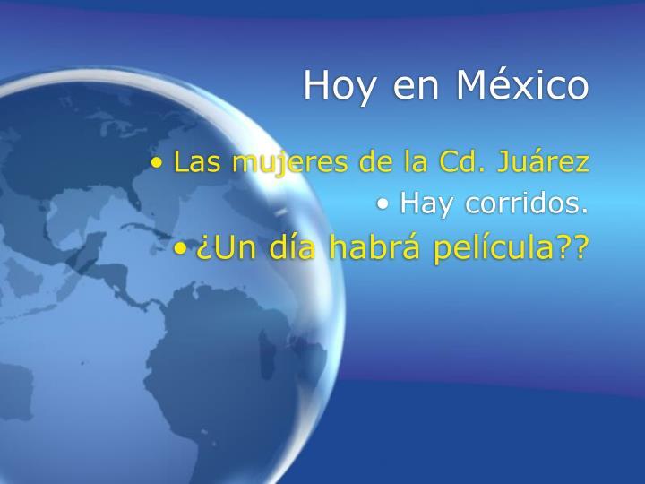 Hoy en México