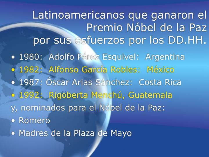 Latinoamericanos que ganaron el Premio N