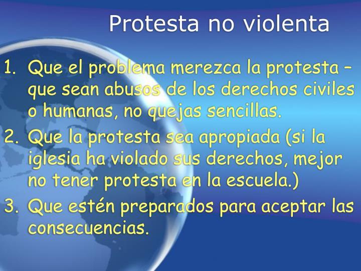Protesta no violenta