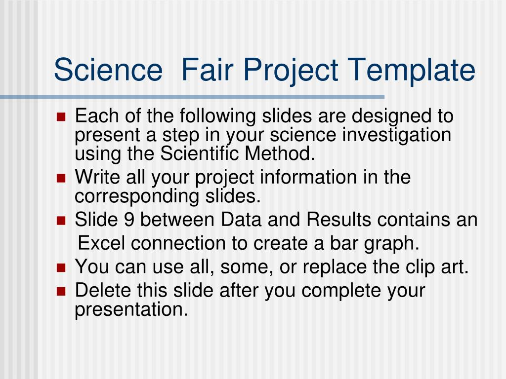 ppt science fair project template powerpoint presentation id 4580305