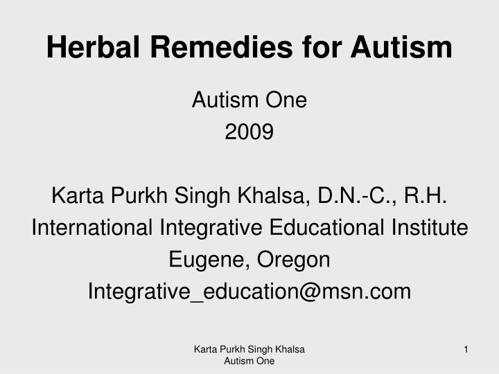 herbal remedies for autism n.