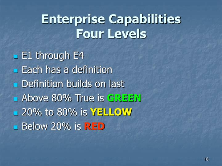 Enterprise Capabilities