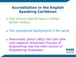 accreditation in the english speaking caribbean