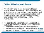cgaa mission and scope