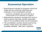 economical operation