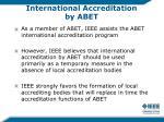 international accreditation by abet
